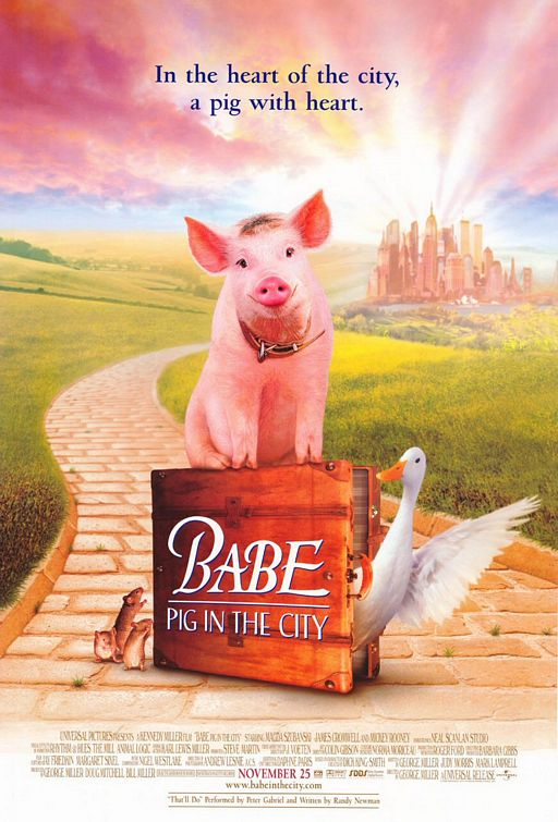 Babe-Pig-In-The-City-Theatrical-Poster-Courtesy-of-Universal-Pictures